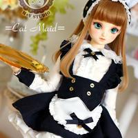 MDD MSD ミニドルフィードリーム 洋服 子猫ワンピースセット(ブラック)