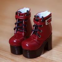 DD,DDS,DDDY,SD ドルフィードリーム 靴 ショートブーツ(レッド)