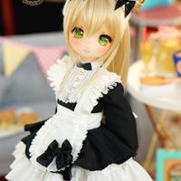 MDDサイズ ミニドルフィードリーム メイド服(ブラック)