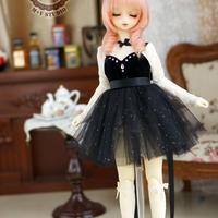 DDドレス ドルフィードリーム洋服 ベルベットドレス(ブラック)