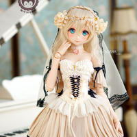 DDサイズ ドルフィードリーム服 プリンセスドール お花のドレス