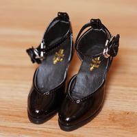 DD ドール靴 Dollfie Dream エナメルパンプス オープントゥ(ブラック)