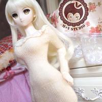 DD/SD/1/3/SDGRサイズ ドルフィードリーム ミニ丈ワンピース(ホワイト)