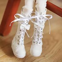 MDD ドール靴 ミニドルフィードリーム リボンブーツ(ホワイト)