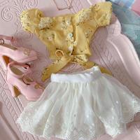 DDサイズ 夏服 ドルフィードリーム洋服 半袖トップス 花柄スカート