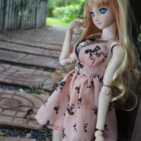 DD服女の子 ドール服 ドルフィードリーム リボン ワンピース 人形用