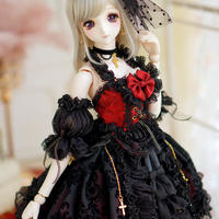 DD/SD ドール服 ドルフィードリーム 人形用 豪華 黒ドレス