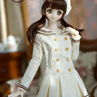 DD,DDS,1/3ドルフィードリーム服 制服ワンピース(ホワイト)