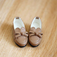 MDDサイズ 靴 ミニドルフィードリーム 制服用 ローファー シューズ(キャメル)