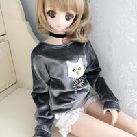 DD,1/3分サイズ ドルフィードリーム衣装 子猫 セーター トレーナー