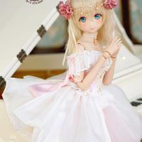 DD,1/3サイズ ドルフィードリーム 洋服 プリンセス お花のドレスセット(ピンク)