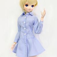 DD,1/3 ドルフィードリーム服 シャツワンピース ドール衣装