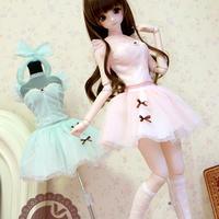 DDL,DY 1/3サイズ ドルフィードリーム洋服 マカロンドレス(ピンク)