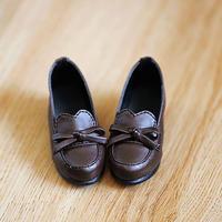 DD 靴 ドルフィードリーム シューズ 人形用 ローファー(ブラウン)