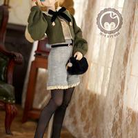 DD,SDサイズ ドール衣装 ドルフィードリーム 春のお出かけ洋服セット(グリーン)