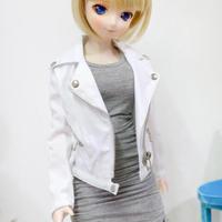 DD,1/3 ドルフィードリーム服 衣装 ジャケット 上着(ホワイト)