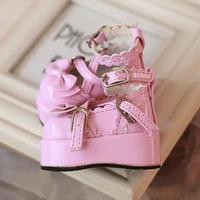 MDD,4分サイズ ドール靴 リボン 厚底パンプス ミニドルフィードリーム靴
