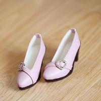 DD,1/3 ドール靴 ハートパンプス ドルフィードリーム シューズ(ピンク)