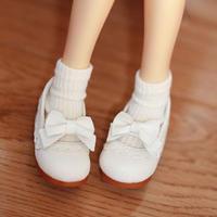 MDD ドール靴 ミニドルフィードリーム靴 リボンパンプス(ホワイト)