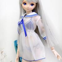 DDドルフィードリーム服 人形用 シースルー ワンピース