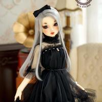 DD/SDGR/SD10 ドルフィードリーム洋服 ドレスワンピース(ブラック)