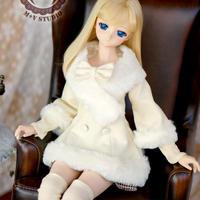 DD,DDS,DDDY,SD ドルフィードリーム洋服 ファーコート(ホワイト)