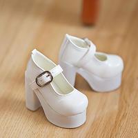 MDD ドール靴 ミニドルフィードリーム 厚底 ヒールパンプス(ホワイト)