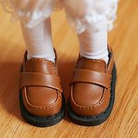 MDD ドール靴 ミニドルフィードリーム 学生 厚底シューズ ローファー(ブラウン)