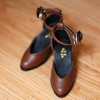 DD ドール靴 Dollfie Dream ドルフィードリーム 靴 パンプス(ブラウン)