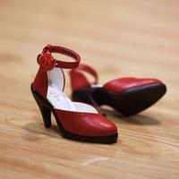DD ドール靴 Dollfie Dream ドール用パンプス(レッド)
