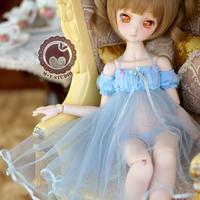 MDD ドール Dollfie Dream ネグりジェワンピース(ブルー)