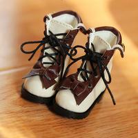 MDD靴 ミニドルフィードリーム靴 リボンブーツ(ブラウン)