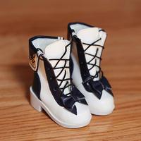 MDDサイズ ミニドルフィードリーム靴 リボンブーツ(ブルー)