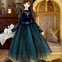 DD SD16 SDGRサイズ ドルフィードリーム ベルベットドレス(ブルー)
