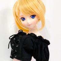DD,1/3 ドルフィードリーム服 お迎えお洋服 トップス オフショル シャツ(ブラック)