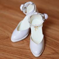 DD ドール靴 Dollfie Dream エナメルパンプス(ホワイト)