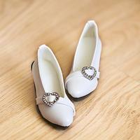 DD,1/3 ドール靴 ハートパンプス ドルフィードリーム シューズ(ホワイト)