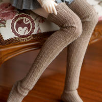 DD衣装 ドルフィードリーム服 ドール用 ソックス ロング丈 ブラウン
