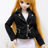 DD,1/3 ドルフィードリーム服 衣装 ジャケット 上着(ブラック)