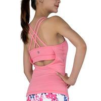 Yoga Chandra オープンバックスポーツタンク Peach