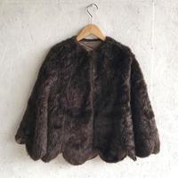 Vintage fake fur scallop cape