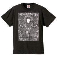 【新作】 無貌の神コラボレーションTシャツ/限定カラー・ヘザーブラック×シルバー
