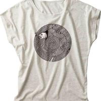猫と怪魚/レディースTシャツ