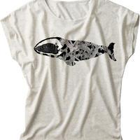 レディースTシャツ/セミクジラ