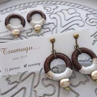 【Tsumugu】イエローサファイヤ×樹脂耳飾り