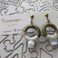 【Tsumugu】オパール×クォーツ耳飾り