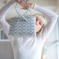 Snakeskin Pattern Twist Box Bag (011613668-400-01)