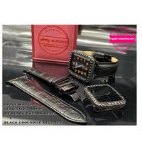 シリーズ2/3用 A1 ブラックカスタムカバーxブラッククロコベルトセット