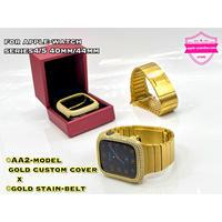 ◆AA2モデルゴールドベゼル◆ゴールドステンベルトセット