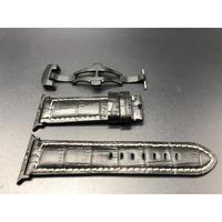 極厚パネライクロコダイル型押しベルト&バックル